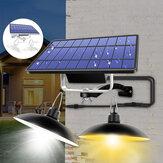Doble cabeza LED Solar retro claro Colgante al aire libre hogar IP65 Lámpara para cámping patio de jardín