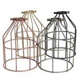 E27 Retro Metal Cage Lampshade Ceiling Pendant Light Lamp Bulb Holder Cafe Bar