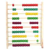 100ビーズ木製の小銭入れ数幼稚園キッド数学教育指導おもちゃ
