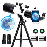 Eyebre Astronomical Telescope 60mm Aperture 360mm Focal Length Tripod Outdoor Camping Telescope with Phone Holder