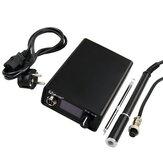 T12-Q19 Digitaal soldeerstation Elektronische soldeerbout OLED 1.3inch AC / DC-voeding met M8 metalen handvat ijzeren tips