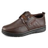 Mannen microfiber leer warm gevoerde antislip zakelijke casual schoenen
