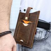 男性EDC本革牛革6.5インチ電話バッグベルトシースウエストバッグ
