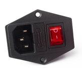 SIMAX3D® 15A 250 V Przełącznik zasilania 3-pinowe gniazdo zasilania AC z bezpiecznikiem do drukarki 3D