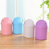 Mini Waste Bin Desktop Garbage Basket Home Table Trash Can Dustbin Container