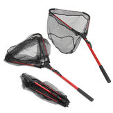 ZANLURE Liga de alumínio 80cm Único Triangular Ultra-Light Folding Handle Fishing Landing Net