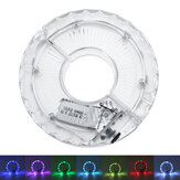 USB 18 Modes LED Bicycle Cycling Wheel Hub Light 7 Color Waterproof Bike Lamp