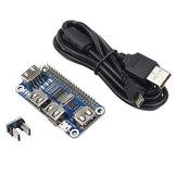 Catda 4 portas USB HUB para placa de extensão USB para UART para depuração serial para Raspberry Pi 4/3B / Zero W