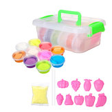 DIY Crystal Slime Kit 10 Colors Fluffy Clay Stress Soft Plasticine speelgoed