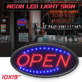 Hanging OPEN LED Sign Neon Advertising Light with Flashing for Business Bar Store EU/US Plug