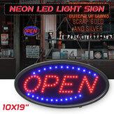 Wiszące OTWARTE światło reklamowe z neonem LED z lampą błyskową do baru biznesowego Sklep EU / US Wtyczka