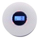 LCD CO Smoke Detector Live Human Voice Alarm Carbon Monoxide Leakage Sensor High Reliability