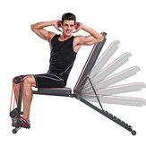 KALOAD 7-versnellingen Rugleuningaanpassing Multifunctionele halterbank Home Gym Sit-up platte bank Max belasting 300 kg