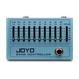 JOYO R-12 Bande contrôleur égaliseur 10 Bande pédale d'égalisation pour guitare et basse, pédale d'effet guitare, 31,25 Hz à 16 kHz, True Bypass