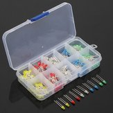 200pcs 3mm 5 colors LED Light Emitting Diode Universal LED Light Assorted Kit DIY LED Diode Set