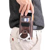 Vários tamanhos homens PU couro sólido telefone bolsa cintura Bolsa