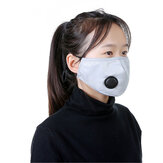 Adult Safety PM2.5 Face Mask With Valve Anti-Dust Particulate Respirator Masks Anti-fog Sport Masks