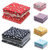5PCS/Set 19.7'' Series Fabric Cotton Bundles Fat Quarters Polycotton Material Florals Gingham Spots Non Woven Fabric
