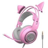 SOMiC G951S 3.5mm + USB DJ Deep Bass Gaming Headphone Cat Fones de ouvido fone de ouvido com microfone para computador Profissão Gamer