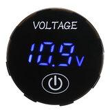 5V-48V Écran tactile LED Voltmètre numérique Batterie Capacité Tension Mètre Panneau Moniteur Commutateur Kit de Panneau de Commutateur Avec iamètre Hole Saw