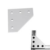 V- فتحة ثقيلة نمط 90 درجة لوحة مشتركة الألومنيوم T4 * 60 * 60MM M5 الموضوع للطابعة 3D