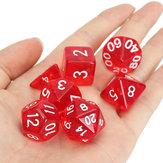 42 Pcs Polyhedral Board RPG MTG Dice Sets 6 Color 4D 6D 8D 10D 12D 20D with 6 Pouch