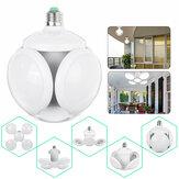 4 + 1 E27 LED Lâmpada de garagem de futebol UFO Shape Industrial Indoor Foldable Home Lamp 85-265V