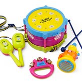 5pcs Baby Roll Drum Musical Instruments Kids Drum Set Children Toys