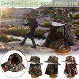 Mens Cotton Face Protection Bucket Hut Angeln im Freien Hut Climbing Mesh Breathable Sunshade Cap