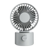 1.2W Mini USB Rechargeable Desktop Silent Fan 2 Modes Wind Speed Oscillating Cooling Fan