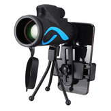 40x60 Monoculare HD Ottica BaK4 Day Night Vision Telescopio con treppiede Phone Holder Outdoor campeggio