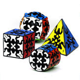 Qiyi Gear 3x3x3 Magic Cube Pyramid Cylinder Sphere Speed Gear Cubes Cubo Magico Professional Brinquedos Anti Stress