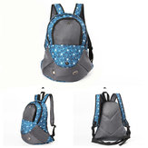 Pet Carrier Shoulders Back Front Pack Dog Cat Travel Bag Mesh Backpack Head Out Design Travel Bag