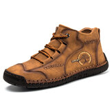 Hommes Vintage Hand Stitching Soft Business Casual Cheville Boots
