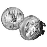 Front Spot Fog Light Lamps Clear Plastic Pair with H10 Buls For Toyota Tacoma Solara Sequoia Tundra
