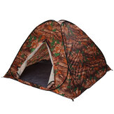 3-4 People Automatic Camping Tent Instant Quick Open Anti UV Silver Coated Awning Tent Outdoor Leaf Camouflage