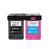 Veteran Ink Cartridge 650XL Replacement for hp650 hp 650 xl Deskjet 1015 1515 2515 2545 2645 3515 4645 Printer