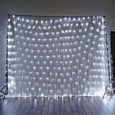 1.5x1.5m IP65 LED Gordijn Fairy Feestdag String Licht Kerstfeest Bruiloft Decor EU Plug AC220V