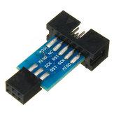3szt 10 pin na 6 pinowe złącze karty adaptera Konwerter interfejsu ISP AVR AVRISP USBASP STK500 Standard Geekcreit dla Arduino - produkty współpracujące z oficjalnymi płytami Arduino