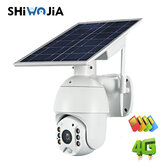 SHIWOJIA 1080P HD Solar Kamera Kablosuz WIFI Gece Görüş İki Yönlü Ses Su Geçirmez Gözetim Kamera 4G IP Kamera