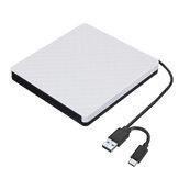 USB 3.0 Type-C Εξωτερική μονάδα εγγραφής DVD εγγραφής εγγραφής εγγραφής εγγραφής RW CD / DVD ROM για MAC OS Windows XP / 7/8/10