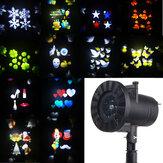 12 Patrones 4 LED Proyector Luz de Escena Luz de Movimiento Rotativo Punto Luminoso para Navidad Halloween