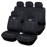 9PCS Universal Car Front Seat Cover Set Polyester Breathable Protection Cover