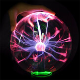 5 Inch Upgrade Plasma Ball Sphere Light Crystal Light Magic Desk Lamp Novelty Light Home Decor