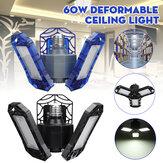 E27 60W Deforme Edilebilir LED Garaj Işığı Katlanabilir Tavan Aydınlatması Yüksek Bay Işık Lamba AC85-265V