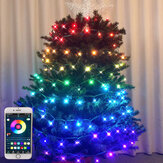 7.5m 50LED APP Bluetooth Control USB Powered RGB LED Light String LED Music Sync Indoor Outdoor Holidays Christmas Decorations Clearance Christmas Lights