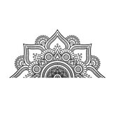 2 SIzes Mandala In Half Wall Sticker Removable Wall Decal Sticker For Meditation