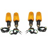 4pcs Motorcycle Motorbike Flasher Turn Signal Lamp Indicator LED Lights Universal