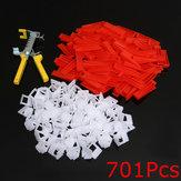 500 stuks clips + 200 stuks wiggen tegel nivellerende systeem spacer + tang