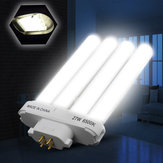 AC220V 27W Quad Tube Compact Pure White Fluorescent Light Bulb for Indoor Home Decoration